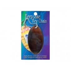 Keepsake Oval Key Chain