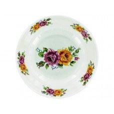 Melamine Bowl with Rose Print