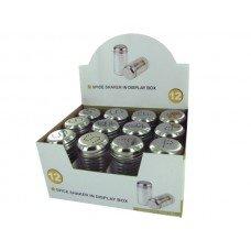 Glass Salt & Pepper Shakers Countertop Display