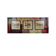 Cherish / Love / Dream Canvas Art