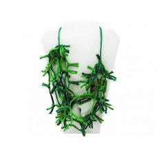 Green Knotted Necklace