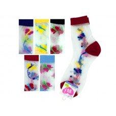 High Cut Butterfly Pattern Socks