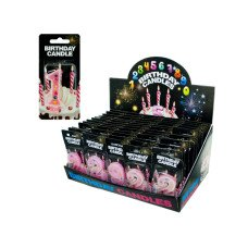 Numbered Birthday Candles Counter Top Display