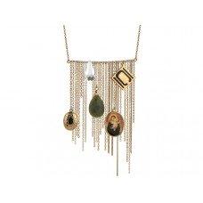 Nikki Chu Gold Tone Opera Length Tassle Necklace