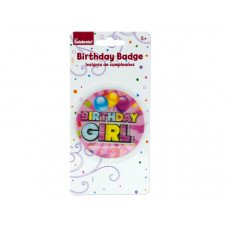 Holographic Girl Birthday Badge