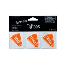 Removable Orange Cheer Tattoos