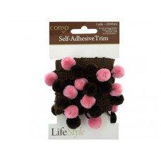Pink & Brown Self Adhesive Decorative Trim