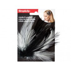simplicity feather plume headband accent