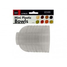 Clear Mini Condiment Bowls Set