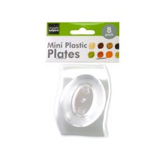 Clear Mini Plastic Plates Set