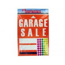 Garage Sale Sign and Sticker Set