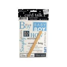 Baby Boy Rub-On Transfers