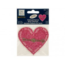 Love Chipboard Spinner Sticker with Glitter Accents