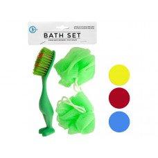 Bath Sponges & Foot Brush Set