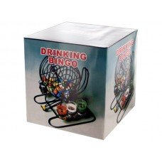 Bingo Drinking Game with Cage & Shot Glasses