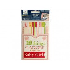 10 Things I Adore About My Baby Girl Journaling Pocket