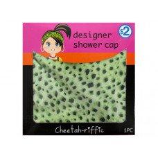 Cheetah Print Designer Shower Cap
