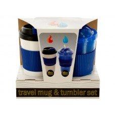 2-Piece 16-Ounce Hot & Cold Travel Mug & Tumbler Set