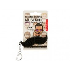 Talking Mustache Keychain