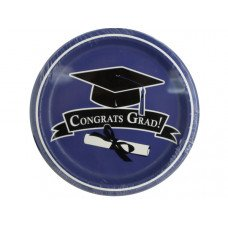 Congrats Grad Purple Party Plates