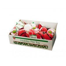 Holiday Dog Squeaky Ball Toy Countertop Display