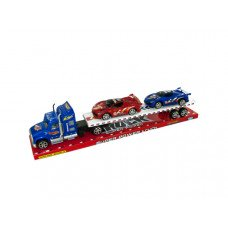 Friction Powered Semi Truck & Race Cars Set