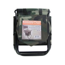 Camouflage Foldable Chair with Zipper Gear Pouch
