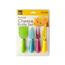 Easy Grip Multi-Colored Cheese Knife Set