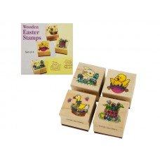 Wooden Easter Stamps Set