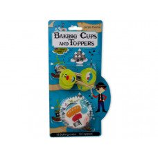 Kids Cupcake Baking Cups & Toppers Set
