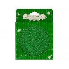 Green Glitz Glitter Coasters