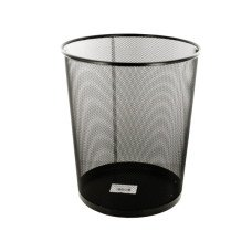 Black Metal Mesh Waste Container