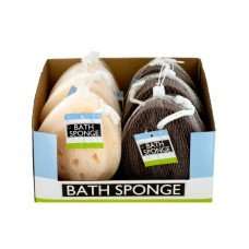 Foam Bath Sponge with Rope Countertop Display