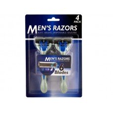 Men's 6 Blade Soft Shave Disposable Razors