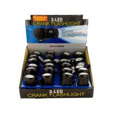 LED Crank Flashlight Countertop Display