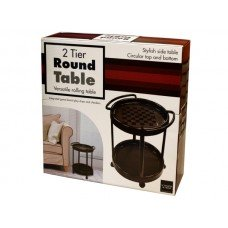 2 Tier Round Rolling Table