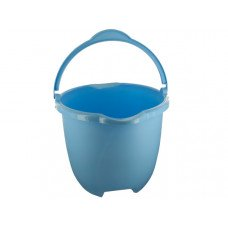 Plastic Bucket with Handle & Pour Spouts