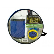 Folding Nylon Bucket with Metal Handle