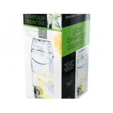 Glass Mason Jar Shape Beverage Dispenser