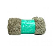 Cozy Textured Coral Fleece Throw Blanket