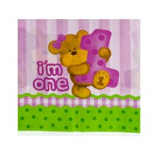 Girl Bear's 1st Birthday Table Cover