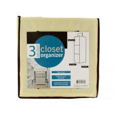 3 Section Closet Organizer