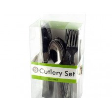 Disposable Silver Plastic Cutlery Set