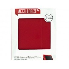 Accellorize Large Red Universal Tablet Case