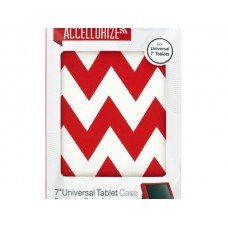 Accellorize Red Chevron Universal Tablet Case