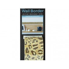 Cheetah Pattern Mini Repositionable Wall Border