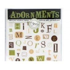 Alphabet Craft Adornment Stickers