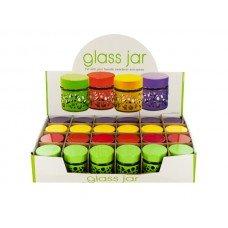 Circle Design Glass Jar Countertop Display