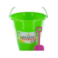 Beach Bucket with Attached Shovel