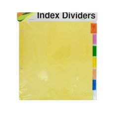 Index Dividers with Multicolor Tabs